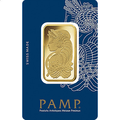 PAMP 1 Ounce Gold Bar - Front